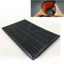 Universal 25x16cm Black PVC Car Floor Carpet Pad Heel Foot Mat Pedal Patch Cover