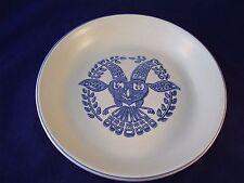 Pfaltzgraff Stoneware Yorktowne Distelfink Bird Pie Plate Quiche USA Retired