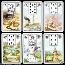 Mrs. Lenormand Karten ND.1895 Orakel Wahrsage Zigeuner 1986 Tarot Wahrsagekarten