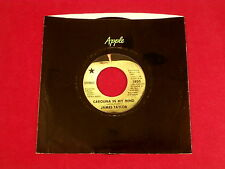 JAMES TAYLOR~ CAROLINA IN MY MIND~~ SOMETHING'S WRONG~APPLE ~ POP 45