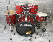 Sonor Sonic Plus II 22,12,13,16,14  Schlagzeug Wine Red Made in Germany inkl. HW