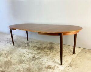 Danish 1960's mid century large extending table by Niels Otto Moller