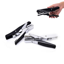Plier stapler manual metal hand stapler with staples stapling office supplies LJ