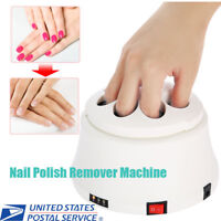 White Nail Polish Remover Steamed Removal Steamer Machine Manicure Tool US Plug