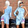 By Alina MEXTON Damenkleid Partykleid Jeanskleid Jeans Minikleid 34 - 38 #D44