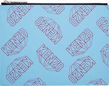 Kenzo Blue Flying Logo Gommato clutch