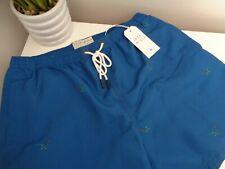 Bnwt Jack Wills Night Blue Pheasant Print Boxer Schwimmen Shorts Größe M