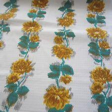 200cm x 92cm VINTAGE Cotton Fabric 1950s Blurry Yellow Rose Fancy Weave dress