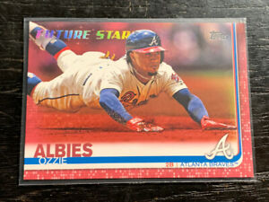 Ozzie Albies Mothers Day Pink 14/50 Future Stars 2019 Topps #561 Braves