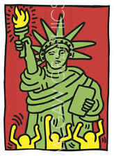 Keith Haring Statue of Liberty 1986 Abstract Contemporary Print Poster 24x36