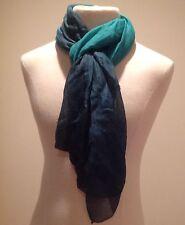 Eileen Fisher Handloomed Silk Linen Dip Dye Artisanal DRAGONFLY Wrap Scarf $128