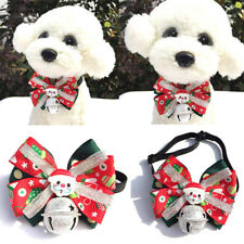3Pcs Christmas Puppy Dog Cat Bowtie&bow Tie Adjustable Dog Collar Pet Supplies