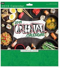 Oriental Cuisine Calendar 2019 Lifestyle Month To View New