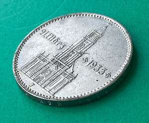 GERMAN 2 Reichsmark .625 Silver  world war two  1934 J with Date ,mega rare