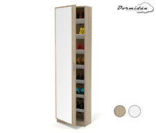 Mueble zapatero, una puerta con espejo, cristal, armario, Mayor Profundidad