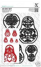 Docrafts Xcut 14 pièce A5 feuille poupées russes die set x cut sizzix eBosser +