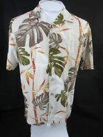 PARADISE SHORES Men Hawaiian ALOHA shirt pit to pit 23 M tropical luau camp tiki
