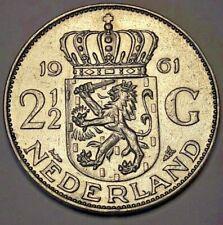 2-1/2 Gulden 1961 <<==>> 1986 Netherlands, Juliana, KM#185 KM#191