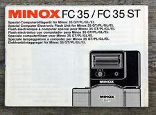 Bedienungsanleitung MINOX FC 35/ FC 35 ST Computerblitzgerät User Manual (X8069