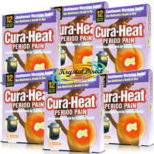 6x Cura Heat Period Pain Air Activated For Target Relief 3 Heat Packs (18 Pads)