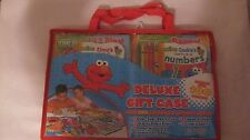 Sesame Street Deluxe Gift Case Activity & Coloring Book Stickers Crayons    fc15