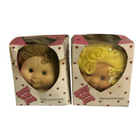 Lot of 2 Baby Doll Heads Original Doll Baby Sweet Love Kids Little Doll Baby