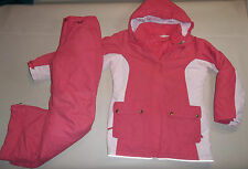 LANDS END SKI SNOW SUIT 2 PC SET OUTFIT JACKET TRICLIMATE 3in1 PANTS GIRL L 14