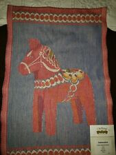 New listing Ekelund Woven Cotton Swedish Horse * Designer Margareta Nystrom Sweden Nwt