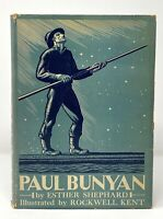 Rockwell Kent / Shephard - Paul Bunyan - 1924 1st 1st HCDJ - Illus of Moby Dick