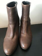 Rag & Bone Brown Leather Newbury Boots Booties Size 38