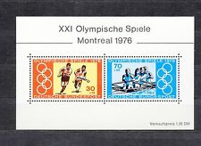 ALLEMAGNE Germany Bloc Feuillet Yvert N° 11 Neuf XX luxe Jeux O. Montreal 1976