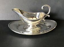Victorian Plate Silver Plated Gravy Boat & Drip Tray