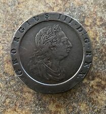 1797 Two Pence King George III Great Britain, Large Copper Coin. 56.7g
