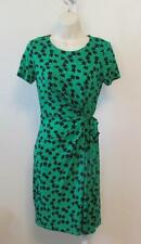 Diane von Furstenberg Zoe Lily Tiny Green black shift dress 12 tie kelly DVF new