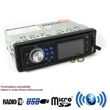 STEREO AUTO BLUETOOTH AUTORADIO MP3 FM USB SD CARD AUX FRONTALINO ESTRAIBILE