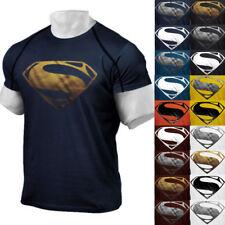 Men's Gym Singlets Short T-shirt Bodybuilding Fitness Sports Clothes