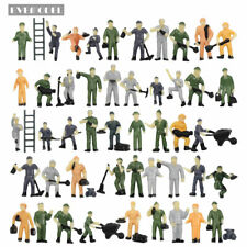 P8710 50pcs 1:87 Well Painted Figures Workers HO Scale Train Worker