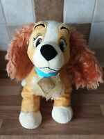 "DISNEY STORE STAMPED 14"" LADY - LADY AND THE TRAMP LARGE PLUSH SOFT TOY"
