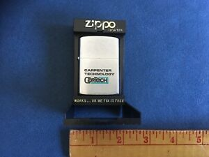 Zippo Lighter Carpenter Technology Steel CarTech New in Package