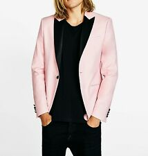 ZARA MAN Pink tuxedo blazer with pointed lapels Size:40 US