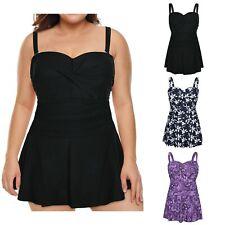 HDE женские закрученный фронт плавать платье-винтаж плюс размер плавательный костюм skirtini
