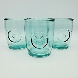 4 Levi Strauss Levi's x Target Recycled Drink Glass Short Tumbler Pale Green