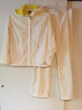 Nike Women's Suit With Pants,White/Yellow,Size S(4-6)P