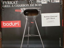 BODUM FRYKAT CHARCOAL BBQ BARBECUE SPIT ROAST MOTOR STAINLESS STEEL GRILL BLACK