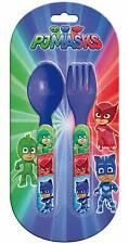 PJ Masks Plastic Spoon and Fork Cutlery Set