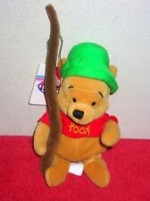 "DISNEY STORE EXCLUSIVE WINNIE POOH FISHING 8"" PLUSH BEAN BAG TOY"