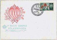 SAN MARINO: Busta speciale 1ST RALLEY EUROPEA VOLKSWAGEN 1955