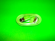 APPLE IPOD IPAD 1 2 IPHONE 3 3G 3GS 4 4S GREEN DOCK CONNECTOR TO USB CABLE