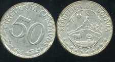 BOLIVIE   50 centavos 1965  ( bis )