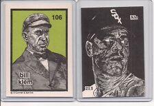 White Sox  TED KLUSZEWSKI  O'Connell & Son Ink Art Card #213  Big Klu  RARE